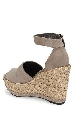 32d60ce94ad ... Stuart Weitzman Soho Jute Gal Topo Taupe Suede Espadrille Wedge Sandal  10.5 NEW 3