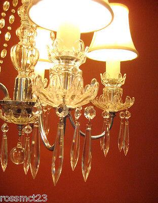 Vintage Lighting antique 1930s crystal chandelier   Rare Stunning 3