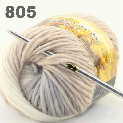 New 1Ball x 50g Chunky DIY Needle crafts Hand-Woven Knitting Scores Wool Yarn 33