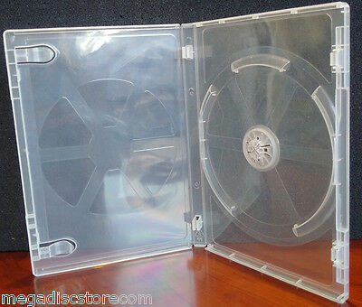 10 Pk New Viva Elite Premium 14mm DVD Case Single Super Clear 1 Disc Box Holder