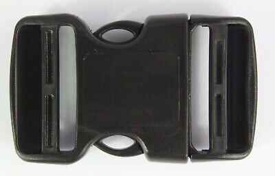 Double Side Release Buckles Black Plastic Clips Rucksacks Replacement All Sizes 4