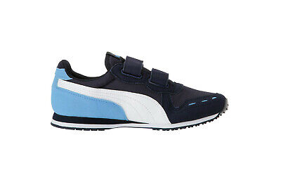 PUMA Infants Babies Toddlers Shoes Cabana Racer Mesh Suede Navy Dark Blue White