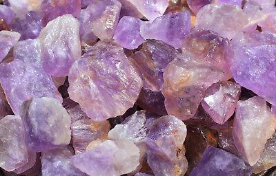 "1 Large 1"" - 2"" Rough Amethyst (Brazil) Natural Gemstone Crystal Healing Rock 5"