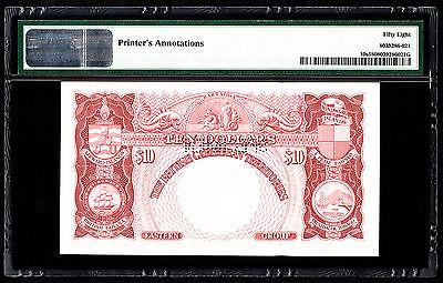 British Caribbean Specimen $10 P. 10 -10s 1964 PMG 58 Choice  AU Rare Note QEII