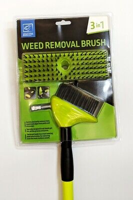 Telescopic Weed Brush Wire Broom Head Patio Deck Scrub Block Paving Moss Removal 9