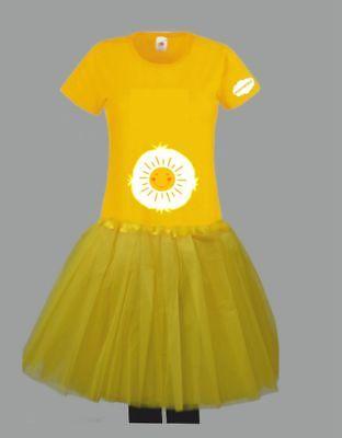 Kostüm für Glücksbärchi Fans Damen T-Shirt Tütü/Rock Gruppenkostüm Karneval JGA 8
