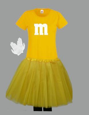 M&M Kostüm MM Fans Tüllrock Damen T-Shirt Tutu Tütü Fasching Gruppenkostüm 7