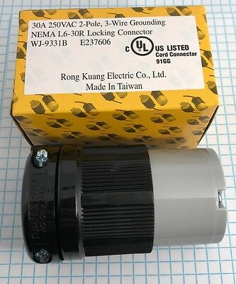 High Quality NEMA L6-30R Female Locking connector, UL listed 2