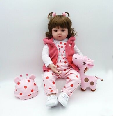 "19"" inch Baby Reborn Doll Vinyl Silicon Life Like Baby Toddler Girl Kids Reborn 3"