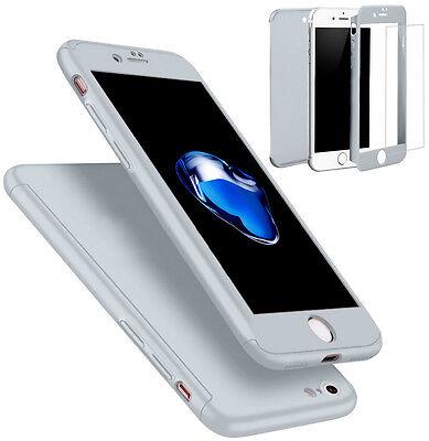 Coque Etui + Verre Trempe Protection Integrale 360 iPhone 6 6S 7 8 Plus X 5S SE 12