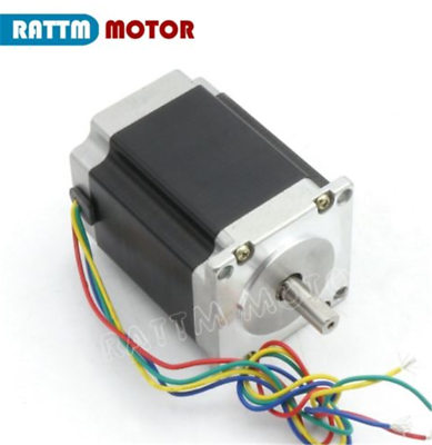 4 Axis 76mm Stepper Motor Nema23 270oz-in Dual Shaft+TB6560 Driver+Board CNC Kit 2