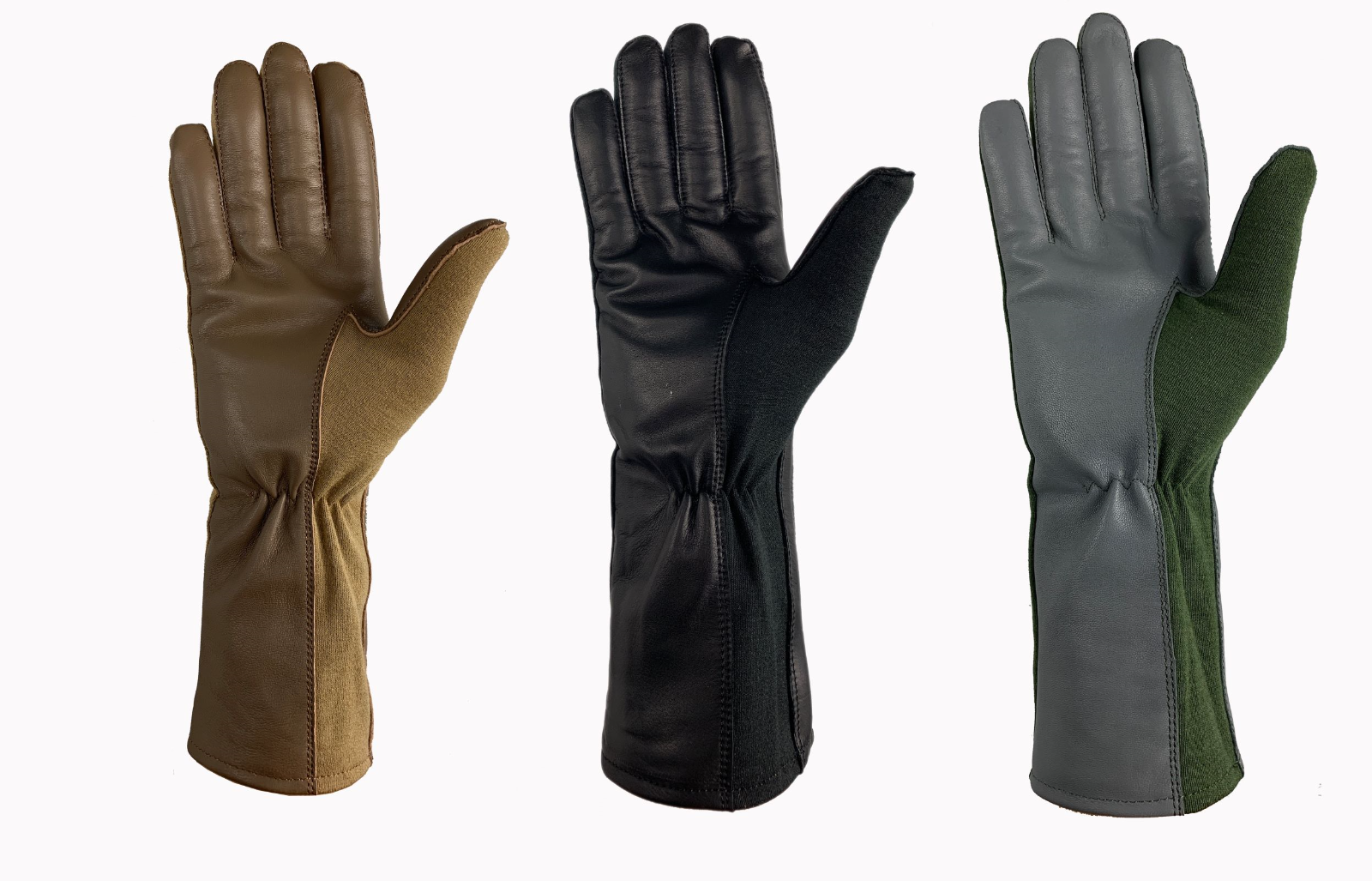 NOMEX LEATHER TACTICAL PILOT FLYERS FIRE HEAT RESISTANCE GLOVES TOUCH SCREEN