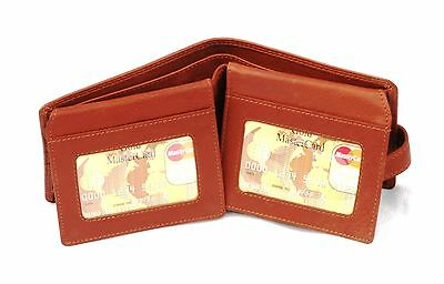 Gorilla Leather Mens Bi Fold Wallet BLACK or Brown wildlife Gift 157