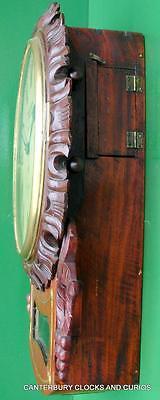 Tree London Decorative Mahogany 8 Day English Fusee Drop Dial Clock 4