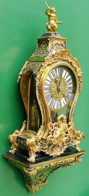 WOLFF A CHALONS 18th CENTURY FRENCH VERGE 8 DAY BOULLE BRACKET CLOCK 3