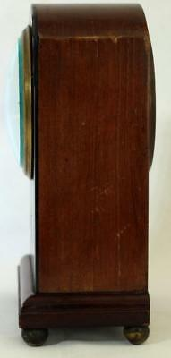 Antique French 8 Day Mahogany And Boxwood Stringing Mantle Clock 5