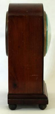 Antique French 8 Day Mahogany And Boxwood Stringing Mantle Clock 4