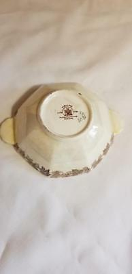 Vintage Maling Newcastle On Tyne Scenic View Lustre Ware Tab Handle Bowl