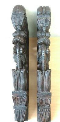 Wall Bracket Corbel Pair Hindu Temple Yalli Architectural Dragon Sculpture Art 6