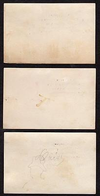 SET/3 BALTIMORE MARYLAND*MD*CW EVANS BOOKS & STATIONERY*CIRCULATING LIBRARY*VTCs