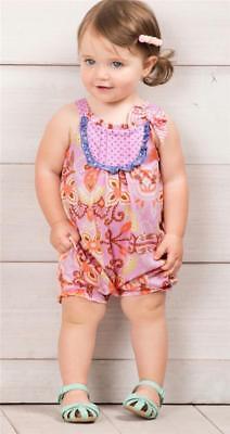 Matilda Jane PLEIN AIR Romper 12-18 Months Pink Baby Girl Knit One-Piece NWT