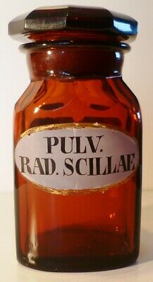 ANTIK ROT Gold Rubinglas Abriss Apotheker Gefäße Gläser Drogen Glas jar bottle 7