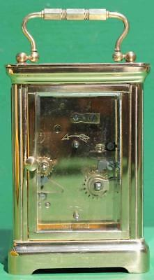 Vintage French L'epee 8 Day Alarm Carriage Clock Corniche Case 4