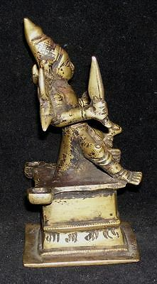 Antique Traditional Indian Ritual Bronze Statue Goddess Parvati Rare #1 6