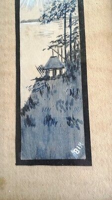 Vintage Framed Original Arts and Crafts Watercolor, Signed – Japonisme Mt. Fuji