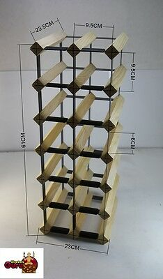 14 OR 18 Bottle Timber Wine Rack -Genuine BORDERS Product - 100% Australian 4