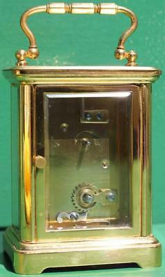 Antique French Couaillet Freres 8 Day Time Piece Corniche Carriage Clock 5