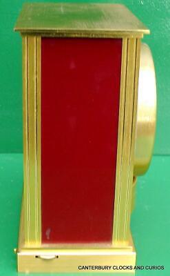 Jaeger Lecoultre Vintage Burgandy Embassy Atmos Clock Original Box Serviced 9