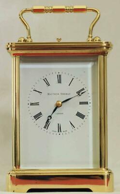 Swiss Matthew Norman 1751A Striking Repeater Grande Corniche Carriage Clock 2