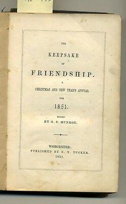 Antique Book 1851 KEEPSAKE of FRIENDSHIP 4 Oliver Pelton Engravings CHRISTMAS hb 3