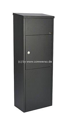 Entnahme erfolgt von vorne Allux 600 Paketbriefkasten in schwarz