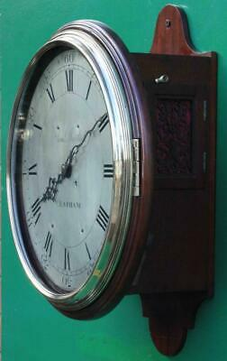 "Early English Georgian 8 Day Verge Fusee 12"" Dial Clock Samuel Mortlock Clapham 6"