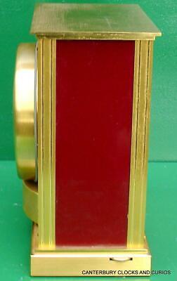 Jaeger Lecoultre Vintage Burgandy Embassy Atmos Clock Original Box Serviced 10