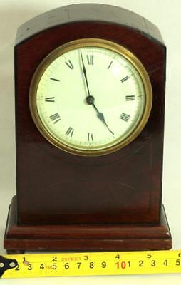 Antique French 8 Day Mahogany And Boxwood Stringing Mantle Clock 3