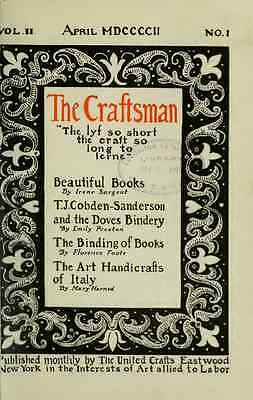The Craftsman Magazine DVD 183 Issues Gustav Stickley Plans How to Books Guide 2