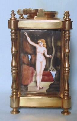 Antique Style French Carriage Clock Repeater Alarm With Erotic Decoration 4