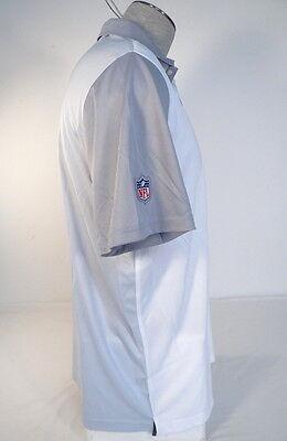 74f7dcd1 ... Nike Dri Fit NFL On Field NY Jets White & Gray Short Sleeve Polo Shirt  Mens