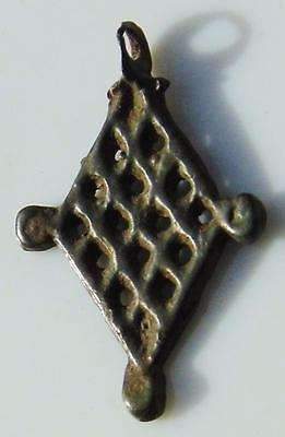 Rare Early Medieval Viking Bronze 'Sowing Crops' Amulet Female Fertility Pendant 2