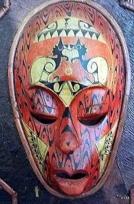 Quadro Etnografico Tribale Con Maschere In Legno. 7