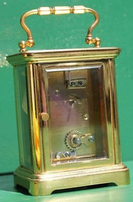 Antique French Couaillet Freres 8 Day Time Piece Corniche Carriage Clock 6