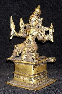 Antique Traditional Indian Ritual Bronze Statue Goddess Parvati Rare #1 4