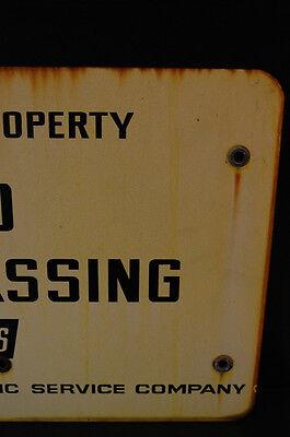 LARGE Industrial Antique Porcelain Enameled No Trespassing Private Property Sign 5