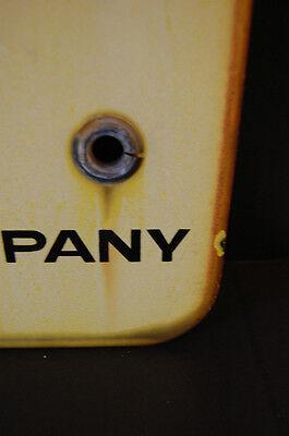 LARGE Industrial Antique Porcelain Enameled No Trespassing Private Property Sign 8