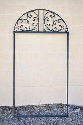 Vintage Ornate Wrought Iron Door Arch Frame Patio Garden Element A 90 x 46