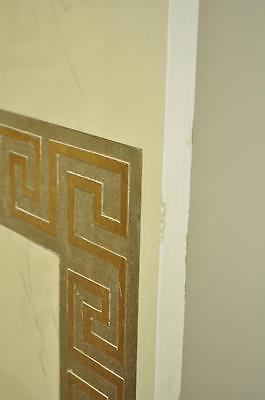 Artmax Decorator Greek Key Hollywood Regency Style 4 Panel Screen Room Divider 7