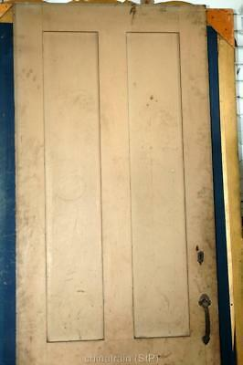 Antique Vintage Solid Wood 4 Panel House Door 83-5/8x30""